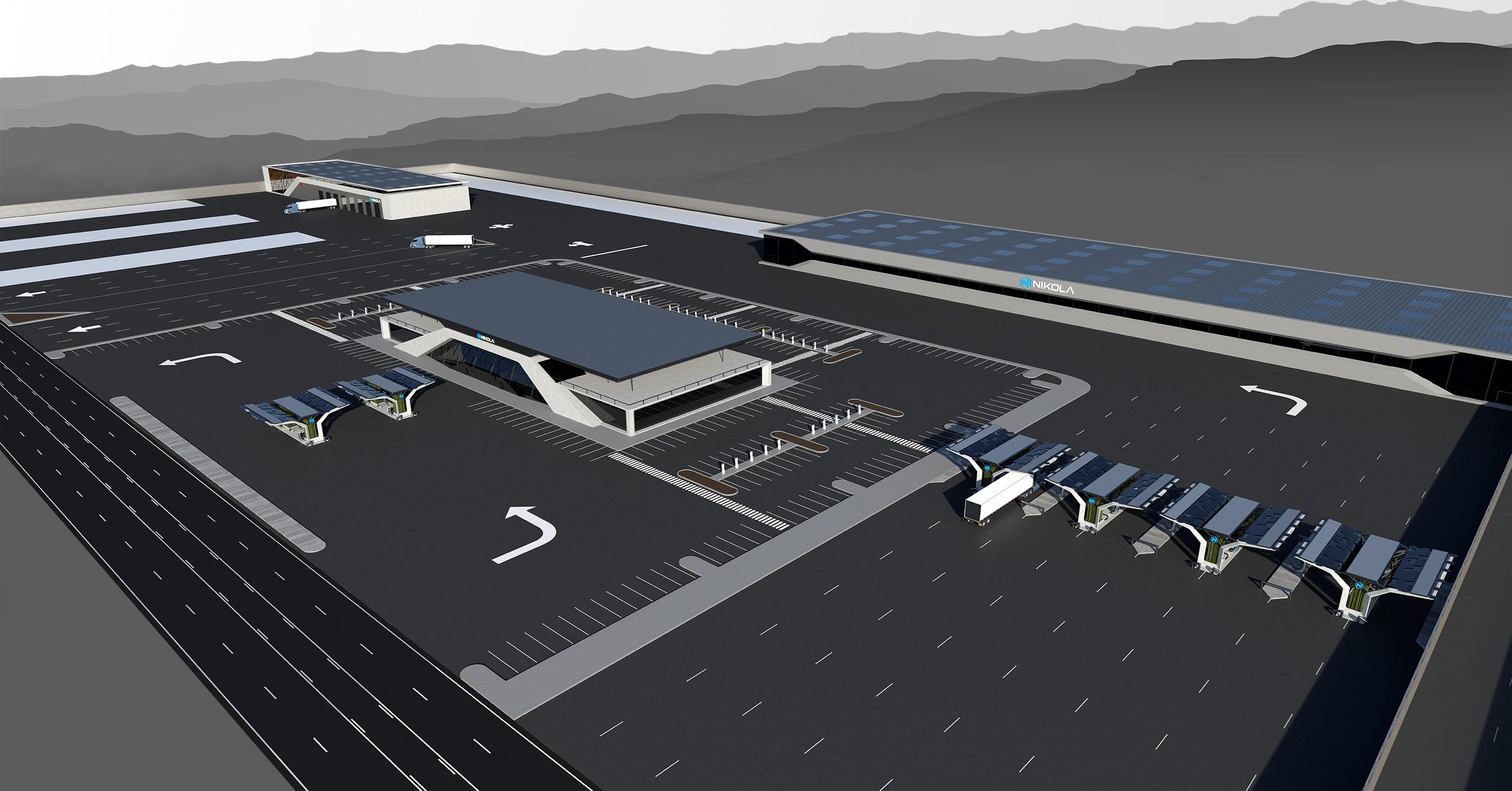 Nikola future hydrogen refueling facility