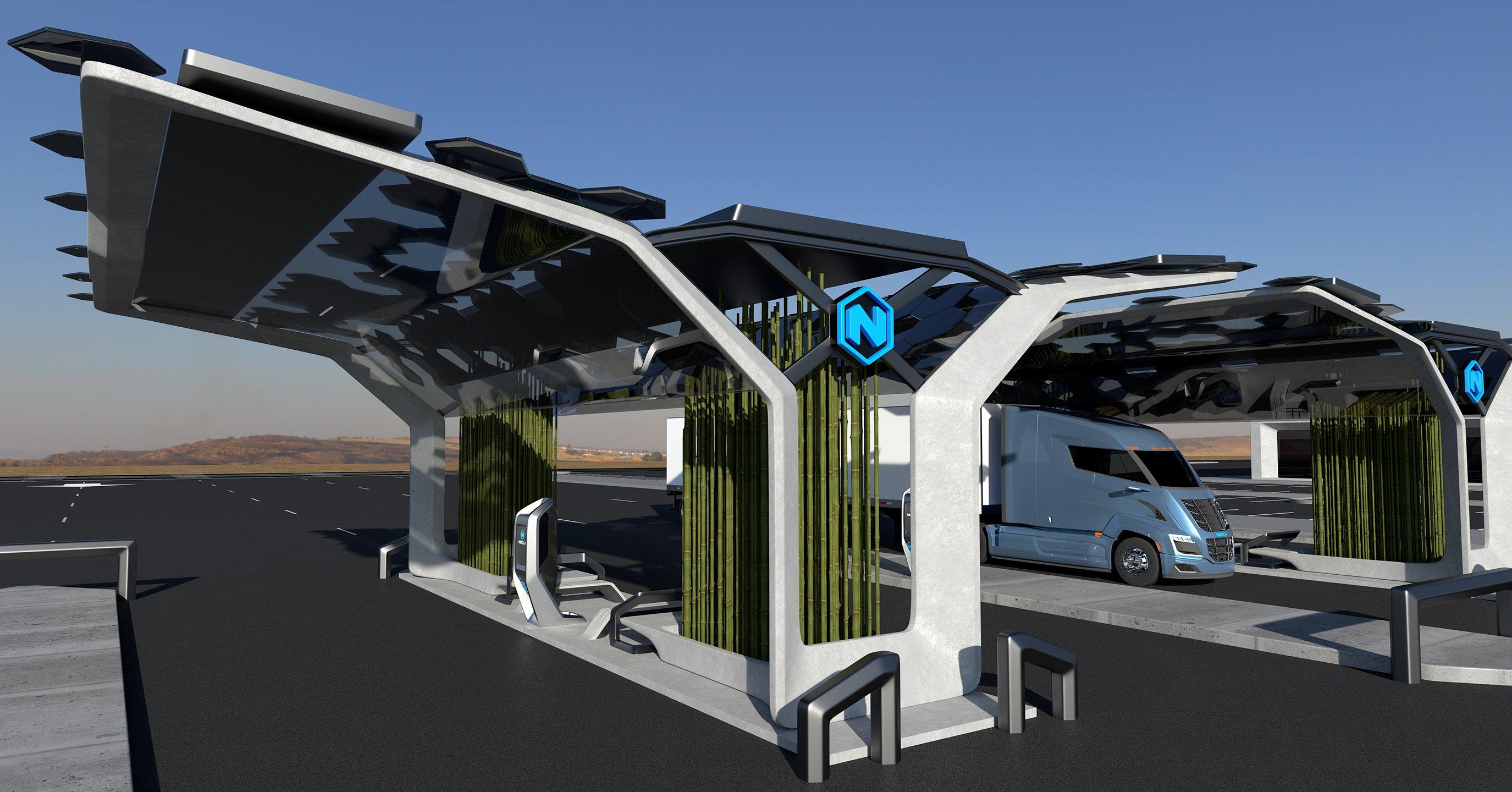 Nikola green energy hydrogen refueling station