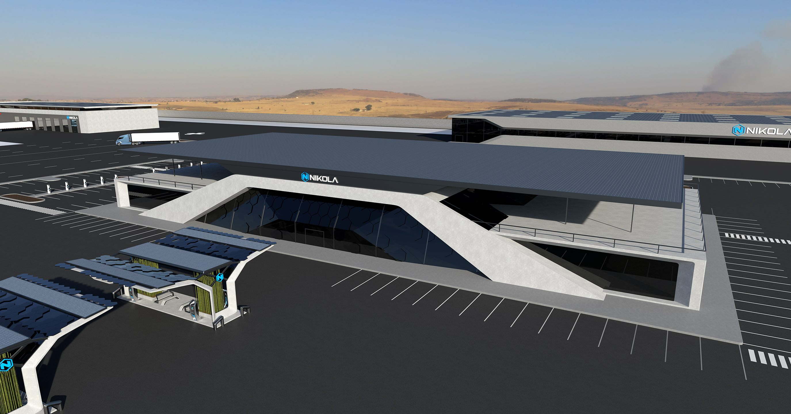 Nikola hydrogen station building