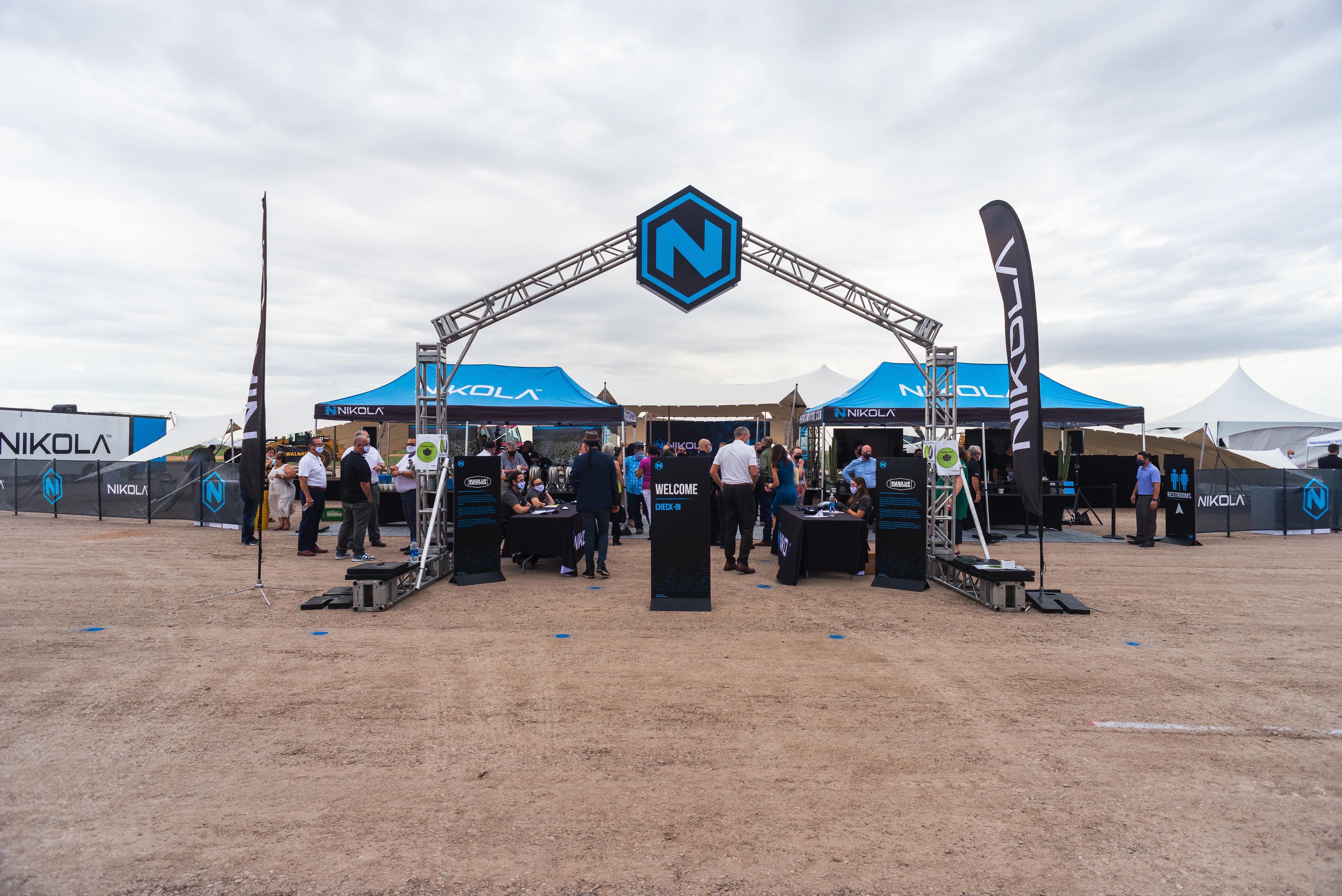 Nikola ground breaking event press release 2